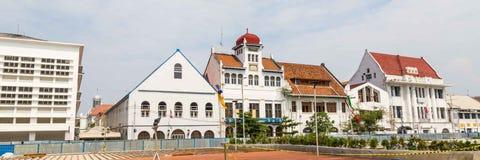 老殖民地大厦在老镇雅加达,巴达维亚, Java 库存照片