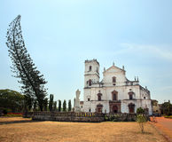 老殖民地教会,果阿,印度 库存图片