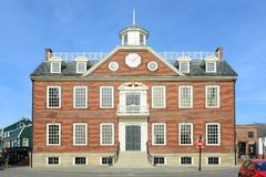老殖民地议院,纽波特,罗德岛州 库存图片