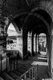 老段落在古比奥,意大利 免版税库存照片