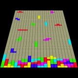 老比赛Tetris 3D 免版税库存照片