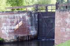 老水坝,特写镜头 免版税库存图片