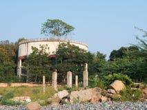 老水塔在印度 图库摄影