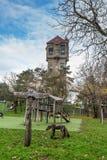 老水塔在IJmuiden 图库摄影