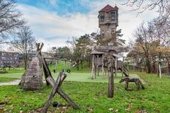 老水塔在IJmuiden 库存照片