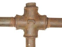 老水输送管道的片段 免版税库存图片