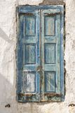 老江边房子快门米科诺斯岛镇希腊 免版税库存图片