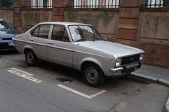 老汽车在法国 库存照片