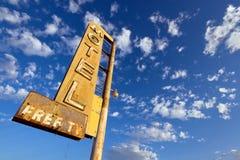 老汽车旅馆符号 免版税库存图片