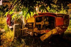 老汽车残骸 图库摄影