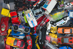 老汽车玩具的汇集 免版税库存照片