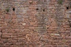 老沙子石头砖墙 图库摄影