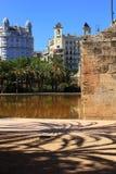 老河床巴伦西亚河里约Turia 免版税库存图片