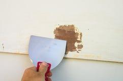 老油漆刮 免版税库存图片