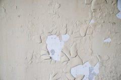 老油漆残余在墙壁上的 免版税库存图片