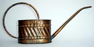 老油罐头,由铜制成 免版税图库摄影