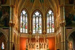 老法国天主教会圣约翰浸礼会教友 库存图片