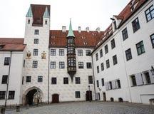 老法院在慕尼黑,德国 路易四世前住所  免版税图库摄影
