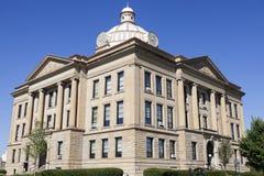 老法院大楼在林肯,洛根县 库存照片