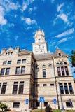 老法院大楼在Jerseyville,泽西县 库存照片