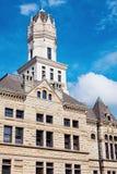 老法院大楼在Jerseyville,泽西县 免版税图库摄影