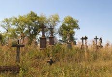 老波兰公墓在Strusiv 库存图片