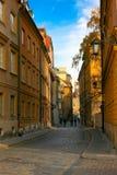 老波兰城镇华沙 免版税库存照片
