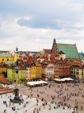 老波兰城镇华沙 库存照片