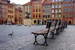 老波兰城镇华沙 免版税图库摄影