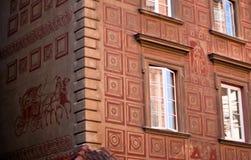 老波兰城镇科教文组织华沙 免版税图库摄影