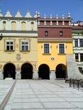 老波兰城镇 免版税库存图片