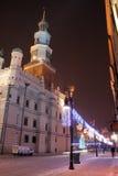 老波兰波兹南城镇 免版税图库摄影