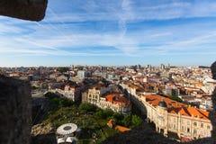 老波尔图看法街市从Clerigos塔 免版税库存图片