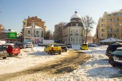 老波摩莱,保加利亚,冬天的中心地区 库存照片