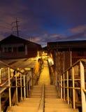 老泰国城镇 免版税库存照片