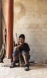 老泰国妇女在越南 免版税库存图片