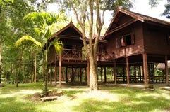 老泰国房子 免版税库存图片
