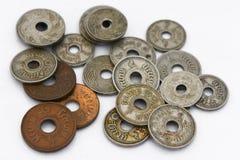 老泰国硬币 库存照片
