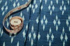 老泰国织品样式 库存照片
