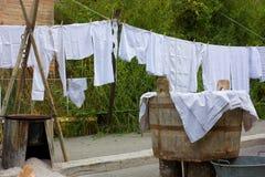 老洗衣店 免版税图库摄影