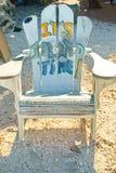 老海岛椅子 免版税库存图片