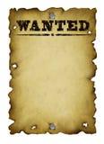 老海报想要西部 免版税库存照片