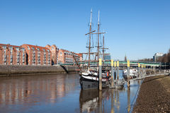 老海盗船在布里曼,德国 库存图片