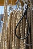 老海洋绳索 免版税库存照片
