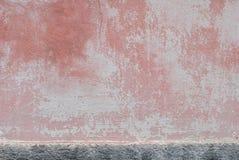老涂灰泥的墙壁,风景样式,纹理背景 免版税库存图片