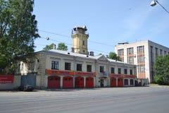 老消防站 免版税图库摄影