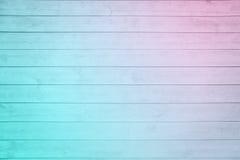 老淡粉红的蓝色ombre板条木头 库存图片