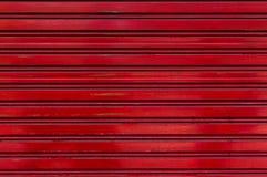 老深红铝纹理背景金属正方形 免版税库存照片