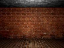 老混凝土被放弃的室内部 库存图片