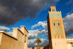 老清真寺在马拉喀什 免版税库存图片